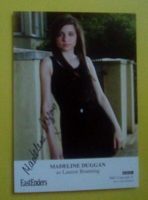 EastEnders Madeline Duggan autograph hand signed Photo Cast Card Lauren Branning