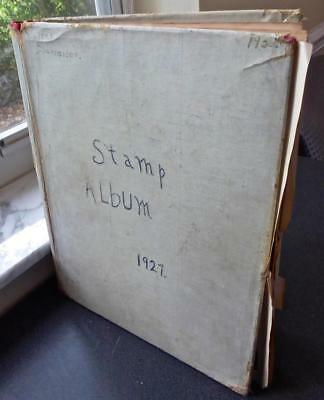 Worldwide Collection in an Old Scott Stamp Album - No Reserve!