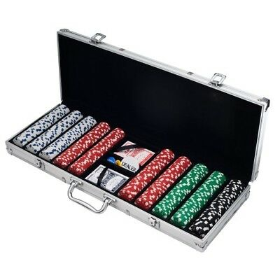 Poker Chip Set Professional Casino Texas Hold'em Gambling Kit With Case Cards