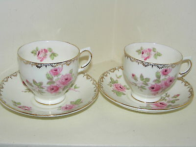 Salisbury Fine China Dijon England 2 X Tea Cup And Saucer Beautiful