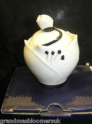 Franz Porcelain Collection Camellia Blossom Sugar Jar Fz02386E New Boxed