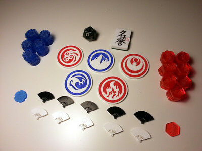 Legend of the Five Rings Full Token Set Import Acrylic Honor Dial d20 Elemental