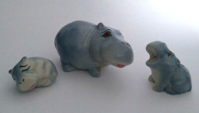 WADE 1970s Animals HAPPY FAMILIES HIPPO FAMILY Second Issue, 1978-1987 Whimsies