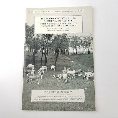University of Minnesota Special Bulletin No 28 Infectious Abortion of Cattle