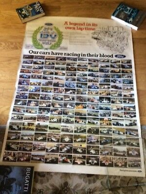 Vintage Ford Cosworth DFV 150 Racing Wins Large Format poster