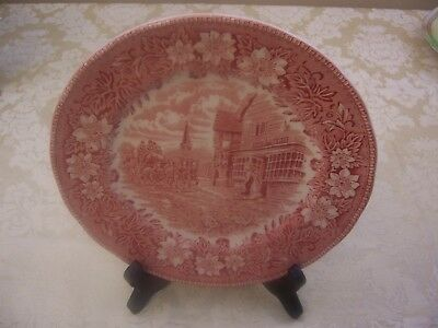 "Collectible Royal Tudor Ware Coaching Taverns 1828 Staffordshire 8"" Salad Plate"