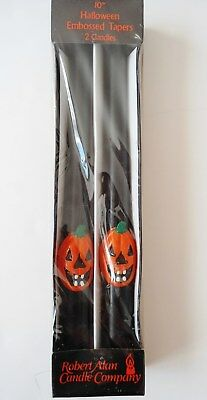 """10"""" Taper Candles Halloween Robert Allen Candle Co Vintage Jack-O-Lantern Candle"""