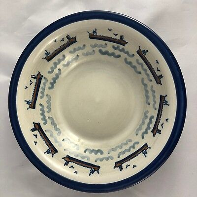 Louisville Stoneware-Captain Spicer's-Great Lakes (Clayton, N.Y.)-4 Soup Bowls