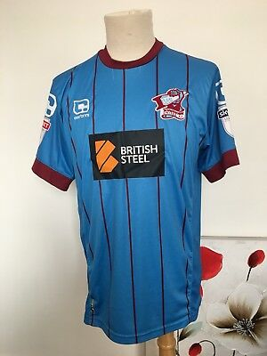 Scunthorpe United Carbrini Match Worn Home Shirt. Adults Medium.#19 Duane Holmes