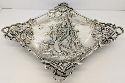 Garden & Vine Ornate Sterling Silver Tray (480.1g)