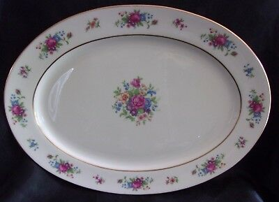 "Lenox ""lenox Rose"" J-300 Oval Serving Platter  16"""