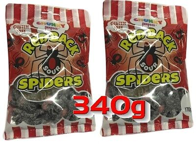 Red Back Sour Spiders 340g Lollies Bulk Lollies Party Favors Candy Buffet Sweets