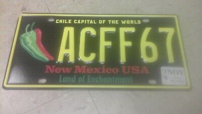 New Condition Clean New Mexico License Plate Chili Capital Collector Quality