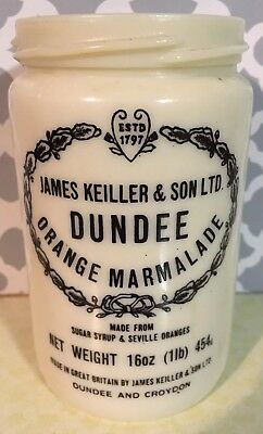 Vintage James Keiller & Sons Dundee Orange Marmalade Stoneware 16 oz Jar Crock
