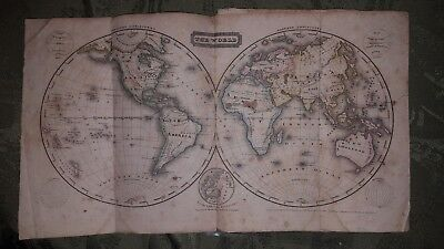 Woodbridge's Larger Atlas 1821 Samuel Goodrich Hartford CT Scarce