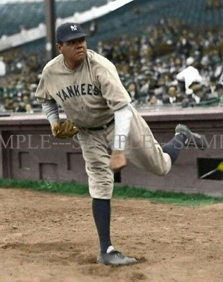 BABE RUTH New York Yankees Color Photo