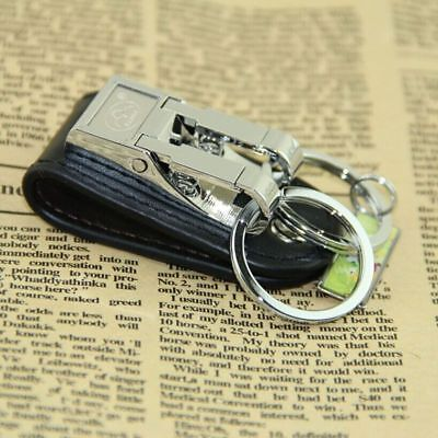Stainless Steel Belt Buckle Clip 2 Loops Keychain Key Chain Key Ring Holder