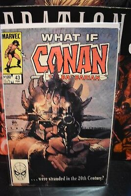 What If 1st Series #43 Conan the Barbarian Were Stranded in 20th Century Marvel
