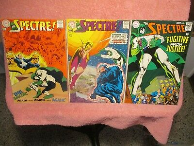 """3-Silver-Aged """"the Spectre"""" Comics Published By Dc Comics #2, 3, 5"""
