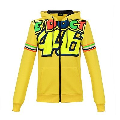 Valentino Rossi VR46 Moto GP Doctor Yellow Hoodie Official 2018 L