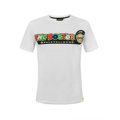 Valentino Rossi VR46 Moto GP The Doctor White Official T-shirt 2018