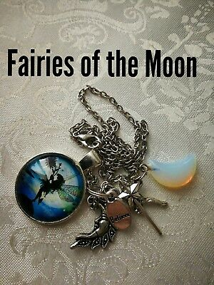 Code 446 Moon Fairy Agate Infused Necklace Fairyologist Doreen Virtue Wand moon