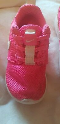 Pink Nike Girls toddler trainers size 4.5uk infant.