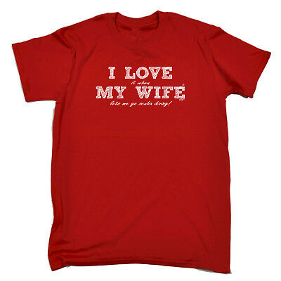 Funny Novelty T-Shirt Mens tee TShirt - Love Wife Scuba Diving