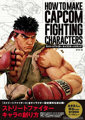 PRE) HOW TO MAKE CAPCOM FIGHTING CHARACTERS Street Fighter Game Making Art Book