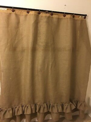 BURLAP NATURAL TAN Shower Curtain Country Primitive Rustic