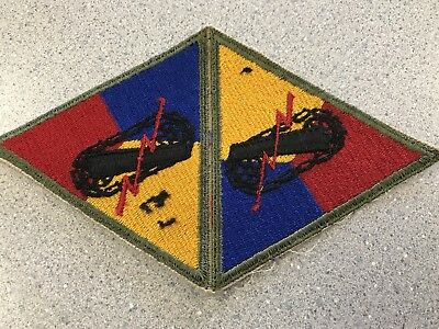 Original WW2 Armored Division Patch Uncut Error Rare? 2 Uncut Patches Tanker