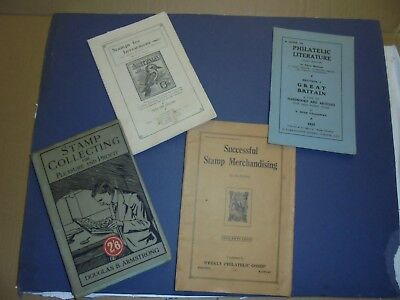 Vintage Stamp Collecting Philatelic Literature Investment Hints 5 Items