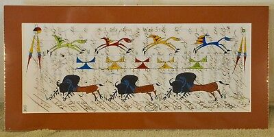 A Good Day/ Native American Ledger Art by Lakota Artist Sonja Holy Eagle