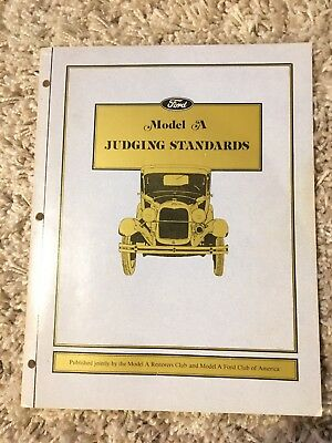 Model A * Ford * Judging Standards * Included-2 Judging Revisions 1981* Vintage