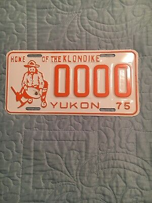 1975 Yukon Home Of The Klondike Sample License Plate 0000
