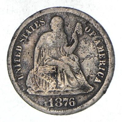 10c - CARSON CITY - 1876-CC Seated Liberty Dime *894