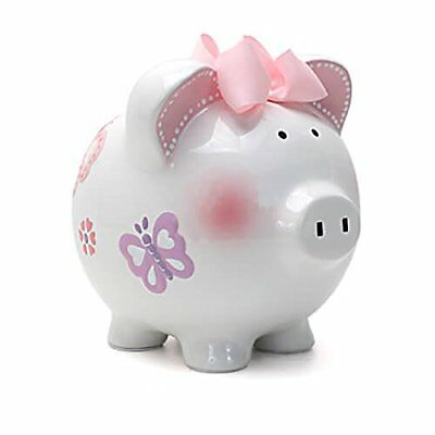 NEW Child to Cherish Piggy Bank Large Butterfly FREE SHIPPING