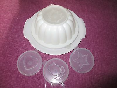 Vintage Tupperware White JELLY MOULD COMPLETE WITH ALL SEALS & TRAY,JEL N SERVE