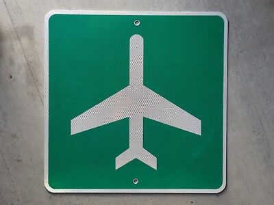 airport aviation airplane highway route road traffic sign AUTHENTIC