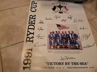 Ryder Cup Posters from years 1991 thru 2006. United states teams