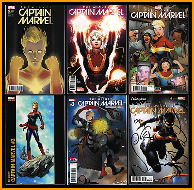 Mighty Captain Marvel #0 1 2 3 Variant Set Of 6 Siqueira Noto Jusko Crain 9.4 Nm