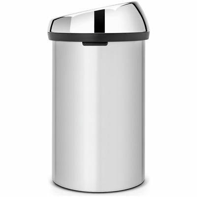 Brabantia 60L Touch Bin - Metallic Grey.