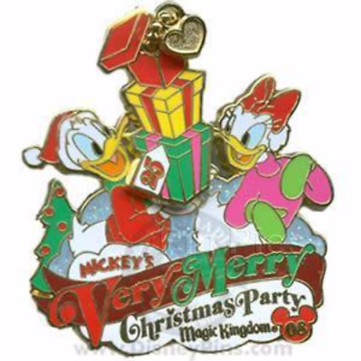 Disney Pin 66342 WDW Mickey's Very Merry Christmas Party 2008 Donald Daisy LE #