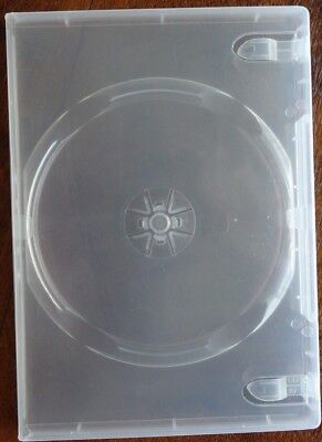 84 x Single Clear 12mm  CD DVD Cover Cases