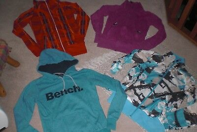 Lot of 3 Womans Bench Jacket and 1 Pullover Hoodie sz S