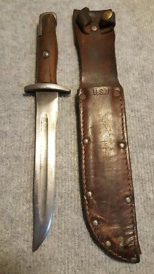 US Military Theater Made Fighting Knife Made from Bayonet with US Navy Sheath