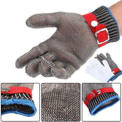 Grade 5 Safety Cut Proof Stab Resistant Stainless Steel Metal Mesh Glove Durable