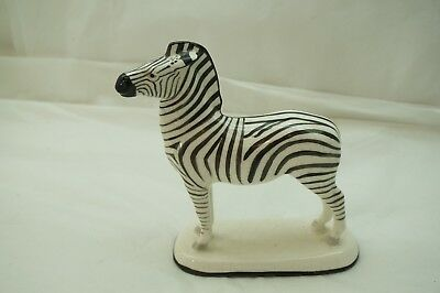 Vintage Zebra Figurine Erphila Germany Statue Figure Black White Porcelain