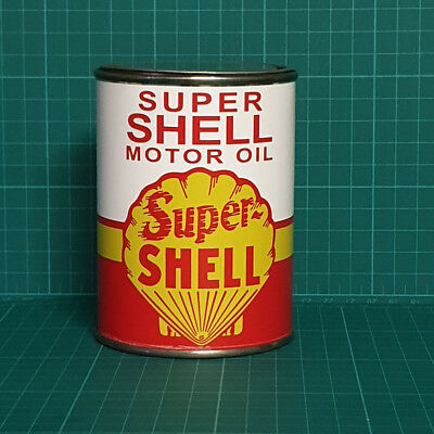 Vintage Replica Shell Motor Oil Tin Can Reproduction Tin Cans Display Props