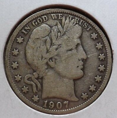 1907 Barber Half Dollar F/VF Faded Liberty Attractive Type Coin Offers Welcome!